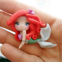 Ariel The Little Mermaid NEW ooak necklace made by AlchemianShop