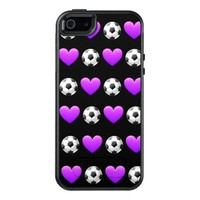 Purple Soccer Ball Otterbox Case iPhone SE/5
