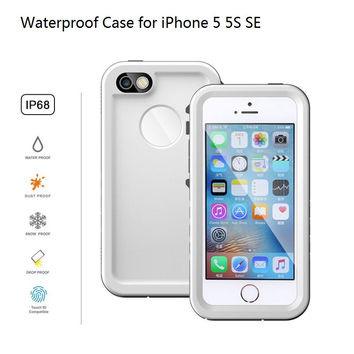 IP68 Mobile Phone Waterproof Case for iPhone 5 5S Swim Diving Underwater Watertight Protective Cover for iPhone SE PC+TPU Hybrid