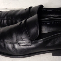 SALVATORE FERRAGAMO Black Loafer Men's Shoes Size 12