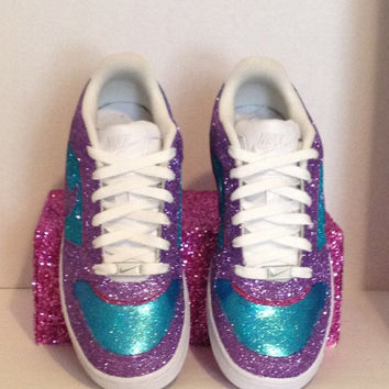 Purple and Blue Glitter Nike Prestige Womens size 7.5
