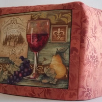 2 Slice Toaster Cover with Wine Glass