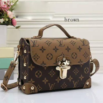 LV Women Shopping Leather  Crossbody Satchel tote Shoulder Bag
