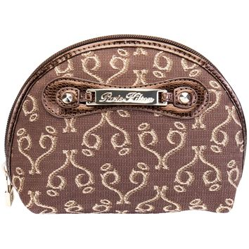 Paris Hilton Handbags - Desire Brown Beauty Case