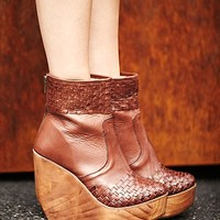 Bed Stu Womens Rys Wedge Boot - Brown