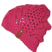 Surfanic Womens Fan Jaquard Beanie Pink