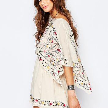 Free People Sheer Batiste Frida Embroidered Dress