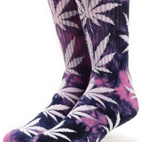 HUF Plantlife Tie Dye Purple Crew Socks