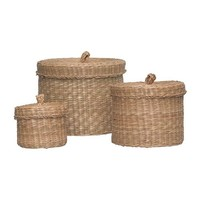 LJUSNAN Box with lid, set of 3   - IKEA