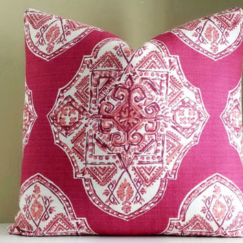 Lacefield Malta Mulberry pillow cover -  Choose your pillow size