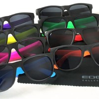 Edge I-Wear 8 Pack 80's Neon Horned Rim Sunglasses with 100% UV Protection 5402R-SET-8
