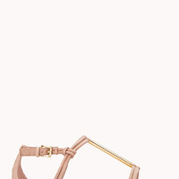 FOREVER 21 Luxe T-Strap Sandals Blush 10
