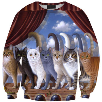 Fashion Stylish Cats Print T-shirts