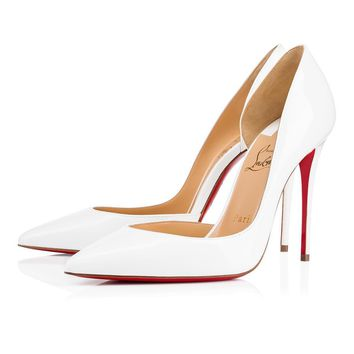 Christian Louboutin Cl Iriza Latte Patent Leather 13w Bridal 3130524wha8 -
