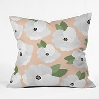 Allyson Johnson Romantic Floral Throw Pillow
