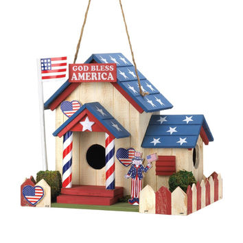 God Bless America Birdhouse