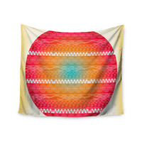 """Famenxt """"Romantic Pattern"""" Red Abstract Wall Tapestry"""