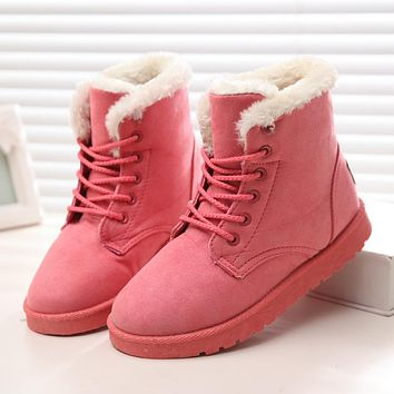 Women Winter Boots Suede Snow Ankle Boots Female Warm Winter Shoes Woman