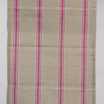 """55"""" x 15.75"""" Naturelle et Terreuse Brown  White and Pink Striped Table Runner"""
