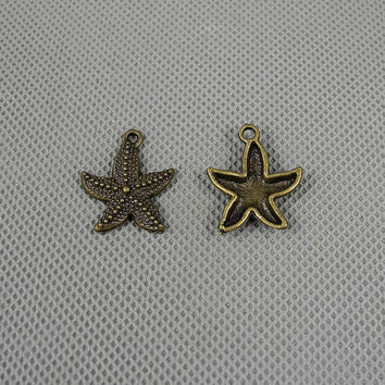 3x Making Jewellery Supply Retro DIY Craft Jewelry Findings Charms Schmuckteile Charme 4-A2444 Starfish