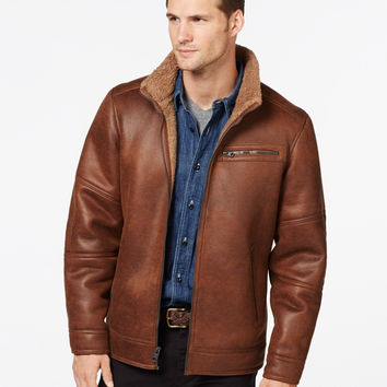 Buffalo David Mens Big & Tall Bitton Faux-Shearling Jacket