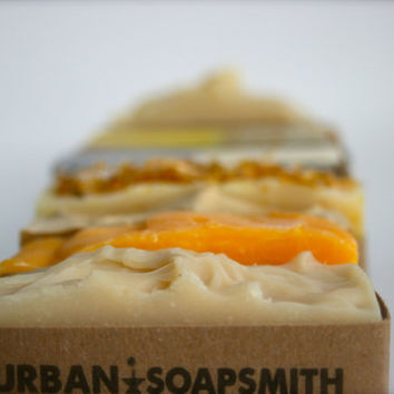 Your Choice of 3 Handcrafted Cold Process Soaps, Homemade Soap Set, Bath Soap Set, Handmade Soap
