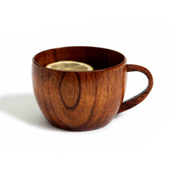 Natural Jujube Bar Wooden Cup Mugs With Handgrip Coffee Tea Milk Travel Wine Beer Mugs For Home Bar
