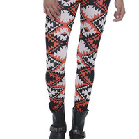 Color Aztec Print Legging | Shop Just Arrived at Wet Seal