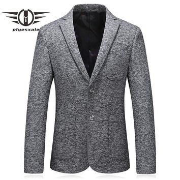 Gray Blazer Men Slim Fit Men Formal Blazer Two Buttons Casual Suit Jacket Coat Wedding Blazers