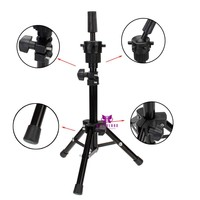 Adjustable Mannequin Holder Salon College Training Head Tripod Stand
