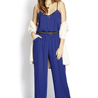 Retro Lace-Trimmed Jumpsuit