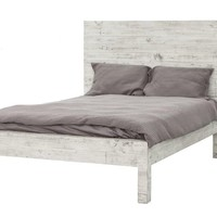 Hadley Platform Bed RUSTIC WHITE