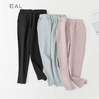 High Waist Casual Korean Slim Cropped Pants [9022839175]