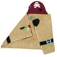 "Pickles Pals 27""X54"" Hooded Towel, Pirate (Discontinued by Manufacturer)"