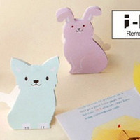 Stand up pink rabbit - memo paper - sticky Post it Note - stick marker- 9301003