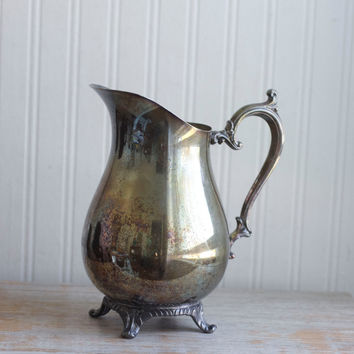 Vintage Silver Water Pitcher, WM Rogers, 1950's