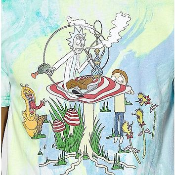 Tie Dye Rick and Morty T Shirt - Spencer's