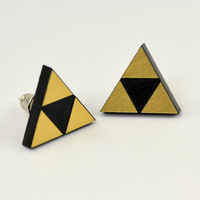 Triforce Stud Earrings  Legend of  Zelda   Laser by LicketyCut