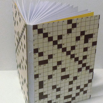 Fun Crossword style journal blank bound 51/2 x 81/2