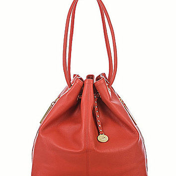 Brahmin Nepal Collection Trina Drawstring Bag - Coral