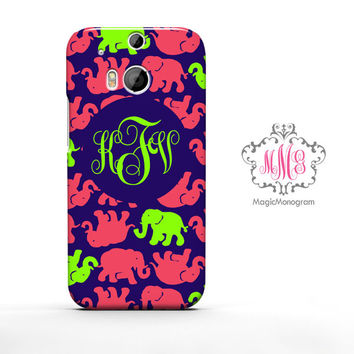 Multi Tusk in Sun Elephant Lilly Pulitzer Monogram HTC Case M9, M8 Case