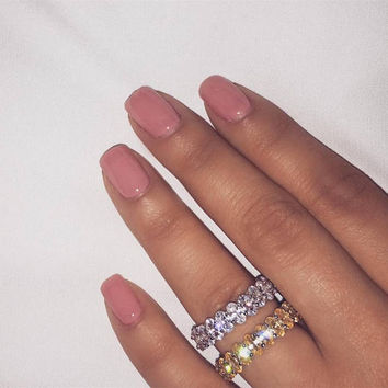 Eternita Ring | Eternity Band | Glam Jewelry | Diamond Band | Wedding Band