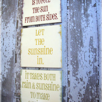 Sunshine Trio Shabby Chic Typography by Cellar Designs on Etsy