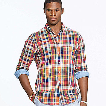 Polo Ralph Lauren Double-Faced Plaid Shirt - Red Madras