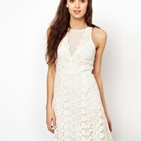 Warehouse Lace Aline Swing Dress at asos.com