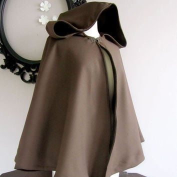 Women's Hooded Cape Hip Length choose from colors