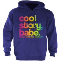 Cool Story Babe Rainbow Hoodie