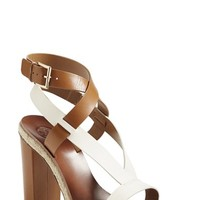 Women's Tory Burch 'Marbella' Ankle Strap Leather Sandal,