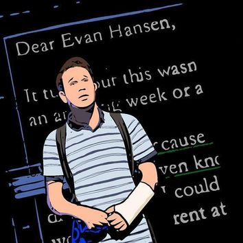 Dear Evan Hansen Ben Platt Illustration 8x10 Print