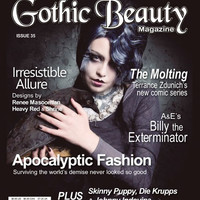 Gothic Beauty Magazine Issue 35 Music interviews with Skinny Puppy, Die Krupps and Johnny Indovina